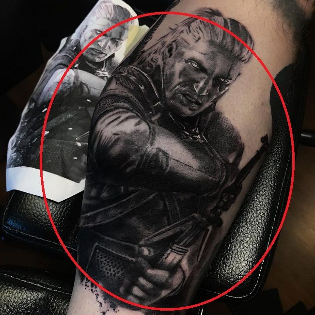 Shayne Smith-Geralt of Rivia tattoo