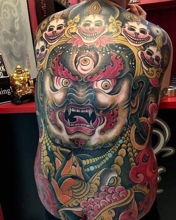 Sid Thapa tattoo