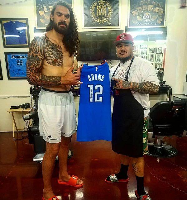 Steven Adams polynesian tattoo