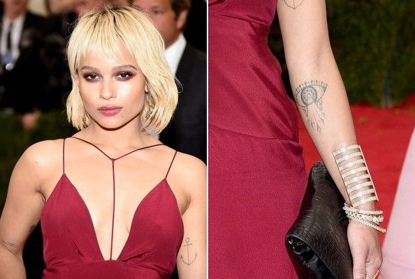 Zoe Kravitz Eye tattoo