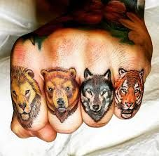 four animal tattoo-cassius marsh