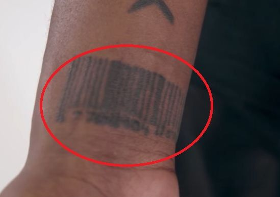 Barcode-Lil yachty tattoo