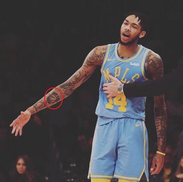 Basketball tattoo-brandon ingram