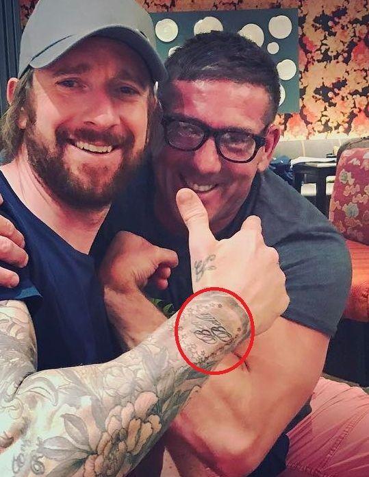 Ben Bella on hand- Sir Bradley Wiggins tattoos