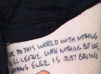 Ed Sheeran Music Lyric Tattoo