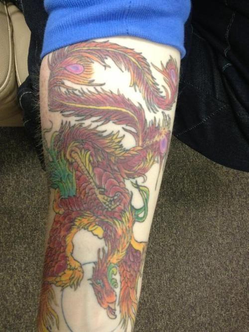 Ed Sheeran Phoenix Tattoo