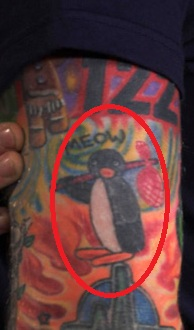 Ed Sheeran Pingu Tattoo