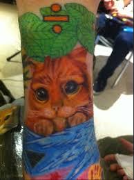 Ed Sheeran Puss In Boots Tattoo
