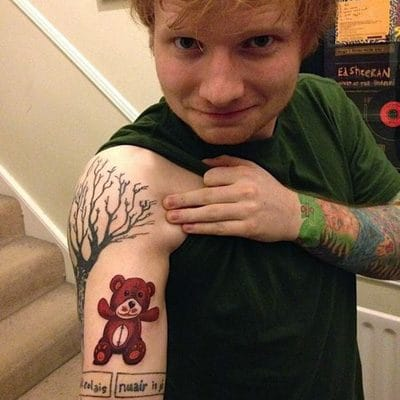Ed Sheeran Teddy Bear Tattoo