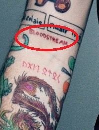 Ed Sheran BLOODSTREAM Tattoo