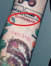 Ed Sheran BLOODSTREAM Tattoo