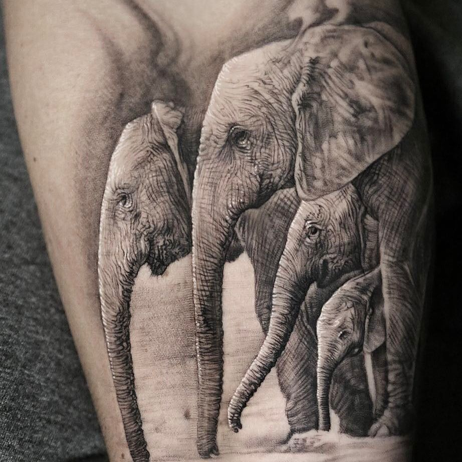 Elephants-maluma tattoo