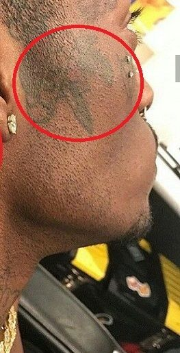 Flower beside right ear- Lil Uzi Vert tattoo