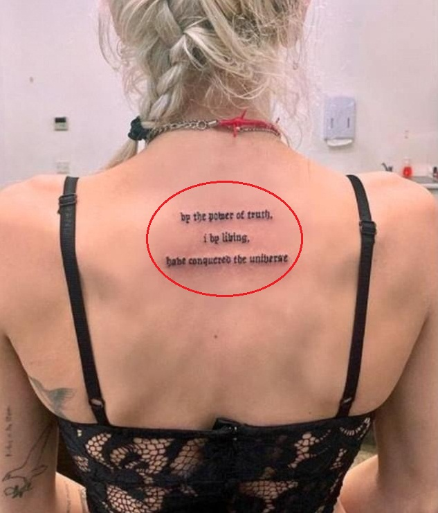 Imogen Anthony Back Tattoo