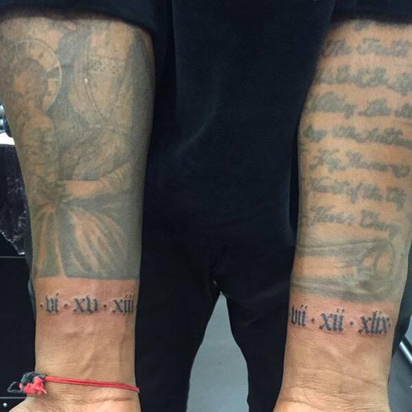 Kanye West Roman Numerals Tattoo