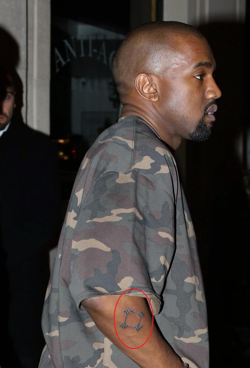 Kayne West Right Forearm Tattoo