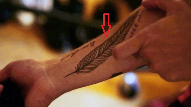 Liam Payne Feather Tattoo
