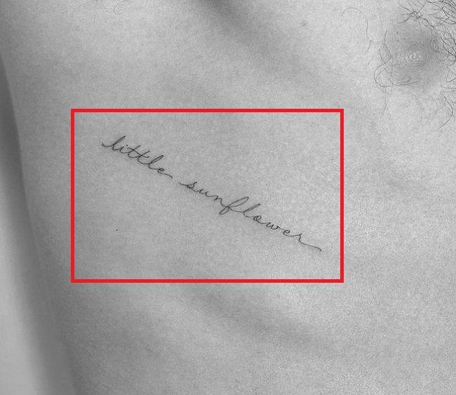 Little sunflower-tattoo shawn mendes