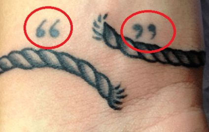 Louis Tomlinson Quotation Mark Tattoos-