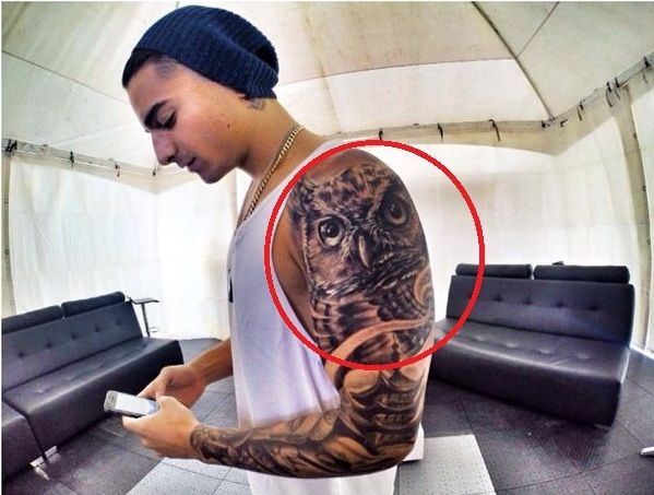 Owl-MALUMA tattoos