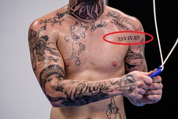 Roman date daniel jason lewis tattoo
