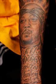 Snoop Dogg Natt Dogg potrait Tattoo
