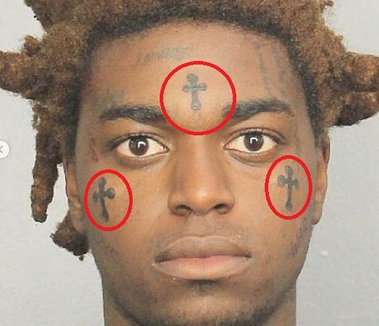Three celtic crosses-Kodak black tattoos