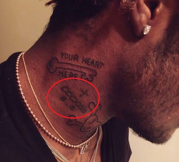 cccxiii on neck-Lil Uzi Vert Tattoos