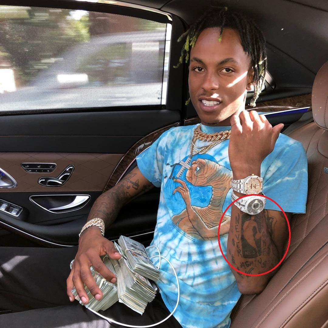 never broke again- Rich The kid tattoos