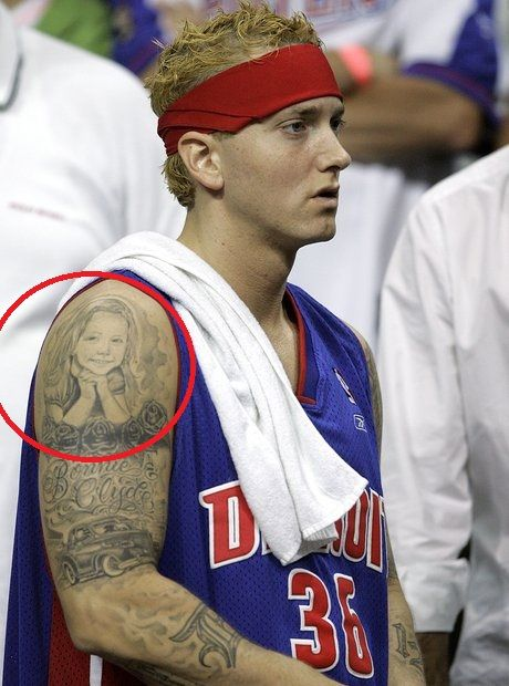 portrait of his daughter-Eminem tattoos