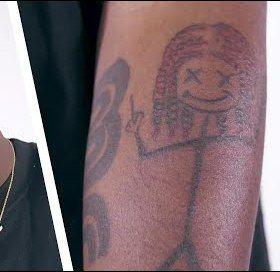 stick figure-Lil yachty tattoos