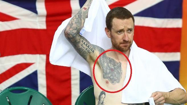 winged warrior on chest- bradley wiggins tattoo