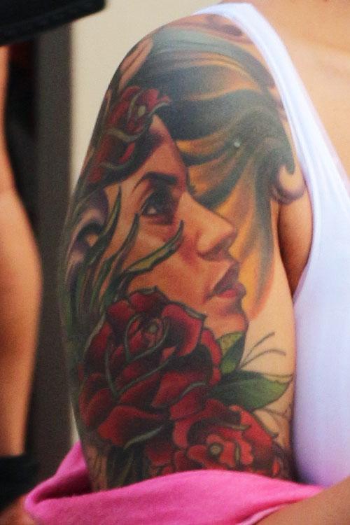 Amber Rose Portrait Tattoo