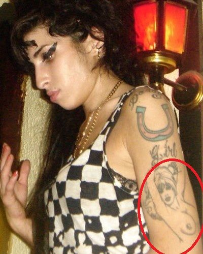 Amy Winehouse Pinup Girl Tattoo-