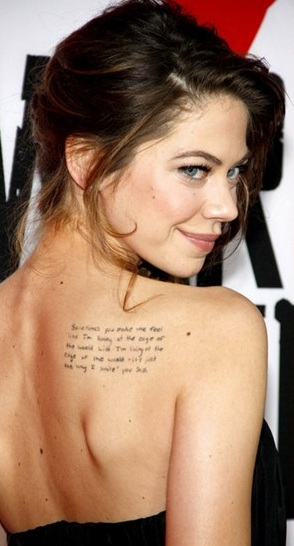 Analeigh Tipton Writing Tattoo