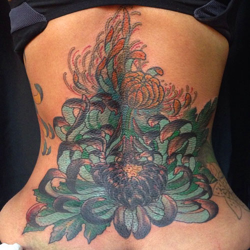 Blac-Chyna-Lotus Tattoo