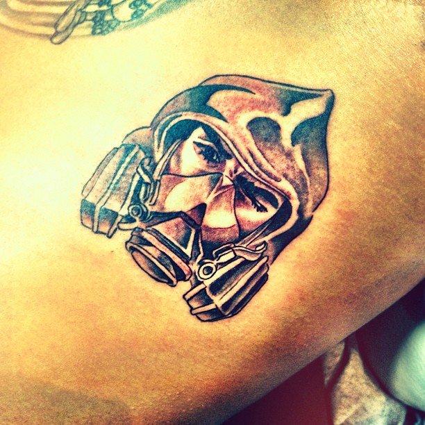Chris Brown The Bandit Tattoo