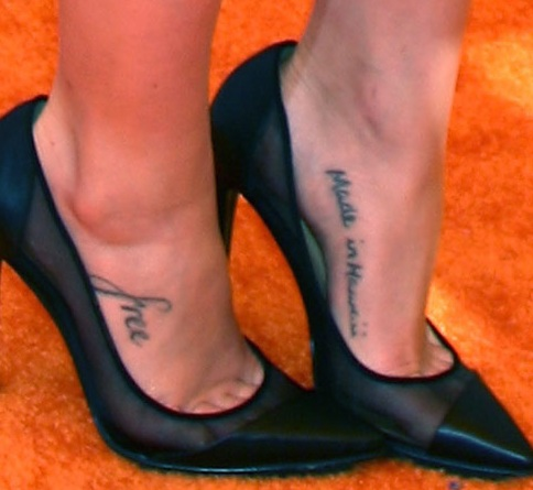 Janel-Parrish-foot-tattoos