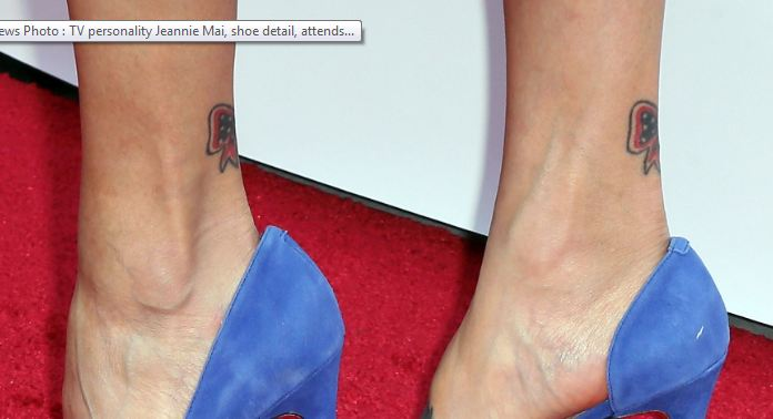Jeannie Mai Ankle Tattoos