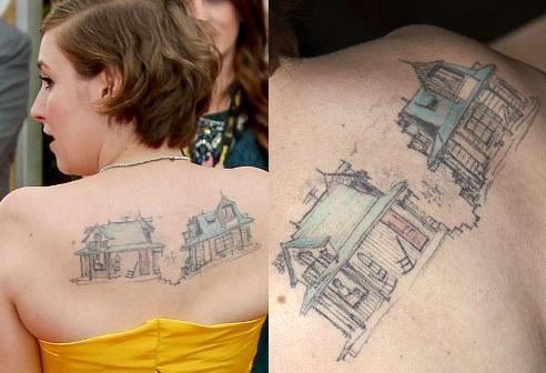 Lena-Dunham-Houses Tattoo