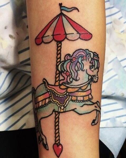 Melanie Martinez Carousel Horse Tattoo