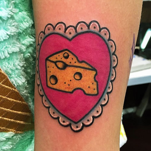 Melanie Martinez Cheese in Heart Tattoo