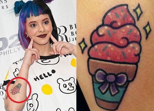 Melanie-Martinez-Ice-Cream-Cone-Tattoo