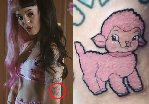 Melanie Martinez Pink Lamb Tattoo