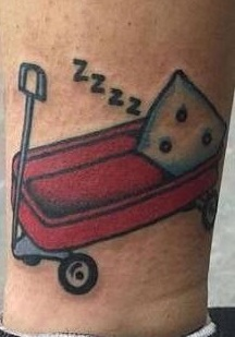 Melanie Martinez Red Wagon Tattoo