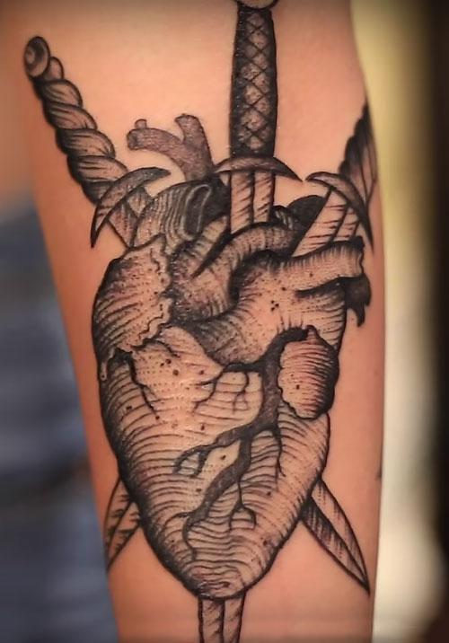 acacia kersey heart tattoo