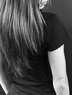 alexis ren numerals tattoo