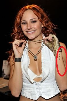 Briana Evigan Wrist Tattoo