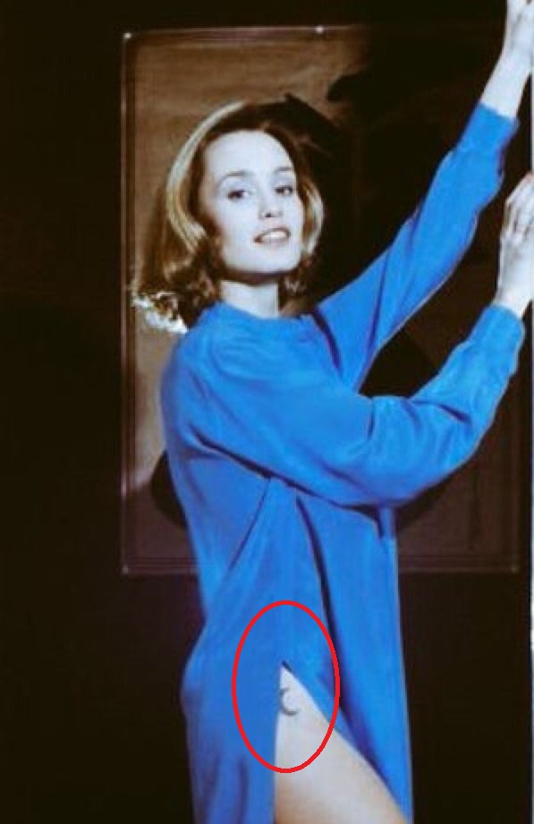 Jessica Lange Crecent Moon Tattoo