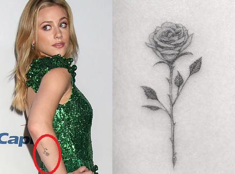 Lili Reinhart Rose Tattoo